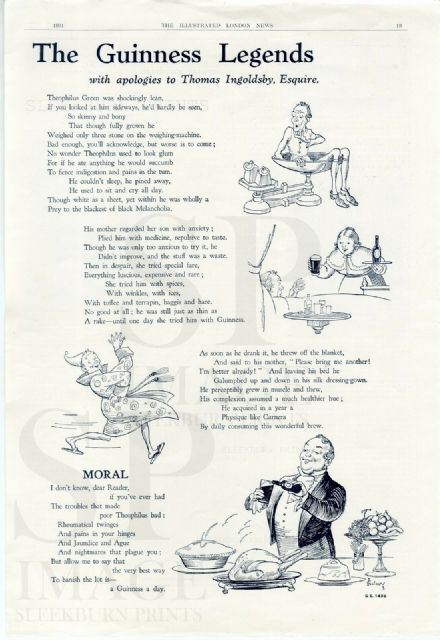 1931 GUINNESS LEGENDS Advert by John Gilroy THE ILLUSTRATED LONDON NEWS GE143B